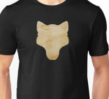 Coffee Stained Wolf Silhouette Unisex T-Shirt