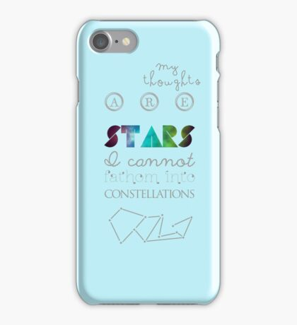 the constellation of my head. iPhone Case/Skin