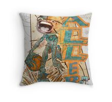 Baller Basketball Hoops Head Throw Pillow