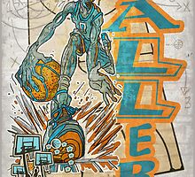 Baller Basketball Hoops Player by MudgeStudios