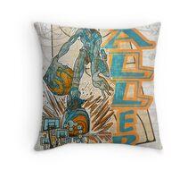 Baller Basketball Hoops Player Throw Pillow