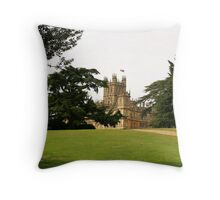 Downton abbey house and grounds Throw Pillow