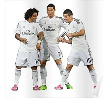 marcelo and cristiano ronaldo and james Poster