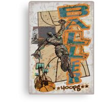 Slam Dunk Baller Basketball Canvas Print