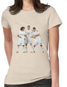marcelo and cristiano ronaldo and james Womens Fitted T-Shirt