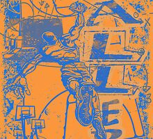 Slam Dunk Baller Blue and Orange by MudgeStudios