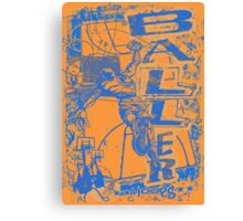 Slam Dunk Baller Blue and Orange Canvas Print