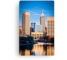 Indy Canal Canvas Print