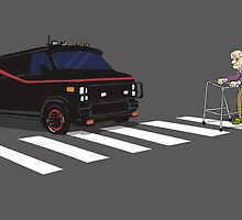 The A-Team Van Old Man Zimmer Frame by Creative Spectator