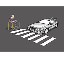 Back to the Future Delorean Old Man Zimmer Frame  Photographic Print