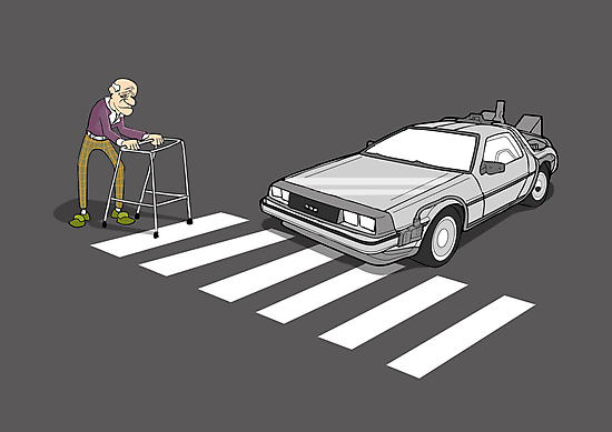 Back to the Future Delorean Old Man Zimmer Frame  by Creative Spectator