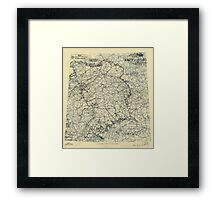 April 26 1945 World War II Twelfth Army Group Situation Map Framed Print