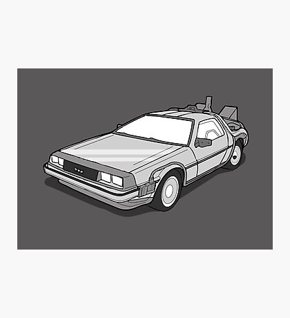 Back to the Future Delorean  Photographic Print