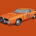 Dukes Of Hazzard (General Lee&#x27;s Car) by Creative Spectator