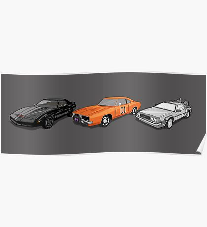 Retro Auto Heros Dukes of Hazzard Knight Rider  Poster