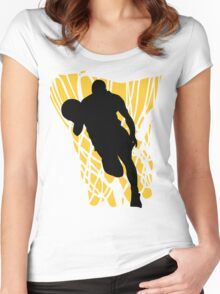 Basketball Player Women's Fitted Scoop T-Shirt