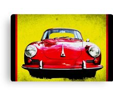 German Flag Porsche 356 Super 90 Red Black Yellow Gold Canvas Print