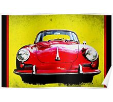 German Flag Porsche 356 Super 90 Red Black Yellow Gold Poster