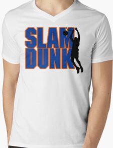 Basketball Slam Dunk Mens V-Neck T-Shirt