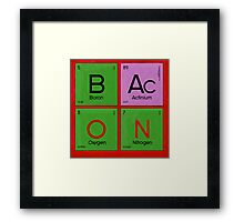 Pure Elemental Bacon Framed Print