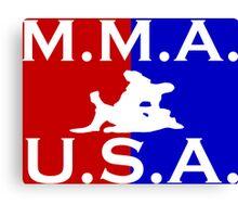U.S.A. M.M.A. logo 1 Canvas Print