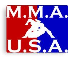 U.S.A. M.M.A. logo 3 Canvas Print