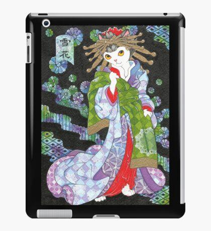 Snowflake - Japanese Ukiyoe Courtesan Cat iPad Case/Skin