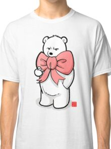 Polar Bear In Pink Ribbon Classic T-Shirt