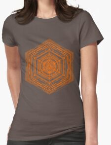 Anatomy of a Cube (Orange) Womens Fitted T-Shirt