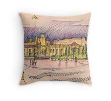 Jerónimos sketch III Throw Pillow