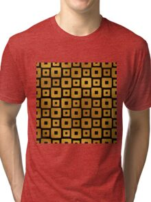 Gold Foil Art Deco Pattern Tri-blend T-Shirt