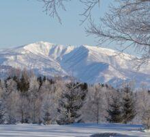 Winter landscape Japan Sticker