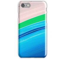 Auto Show Blue Green Color Stripes iPhone Case/Skin
