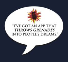 """""""I've got an app that throws grenades into people's dreams."""" - Malcolm Tucker by brilliantbutton"""