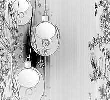 Silvery iPhone Case for Christmas Season by Vickie Emms