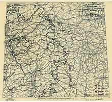 April 9 1945 World War II HQ Twelfth Army Group situation map Photographic Print