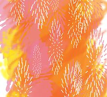 Brush Strokes in Oranges by TinaGraphics