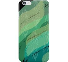 Brush Strokes in Teals iPhone Case/Skin