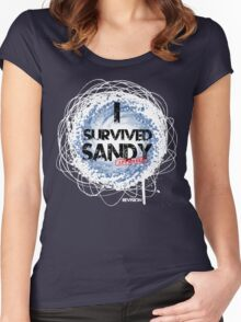 I SURVIVED SANDY TEE :D Women's Fitted Scoop T-Shirt
