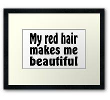 Red Hair Framed Print
