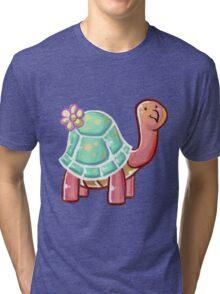 Flower Tortoise Tri-blend T-Shirt
