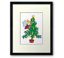 Christmas Tree Elf Framed Print