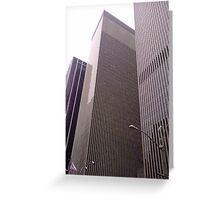 Walking in New York Greeting Card