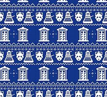 Doctor Who Christmas Knitted Print- Winter Exclusive by AlterEgoArt