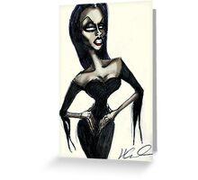 The Drag Vampira Greeting Card