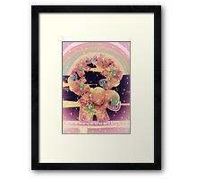 elephants balancing Framed Print