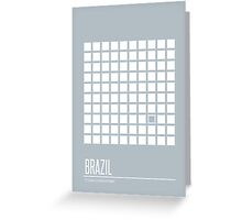 Brazil Movie Poster Greeting Card