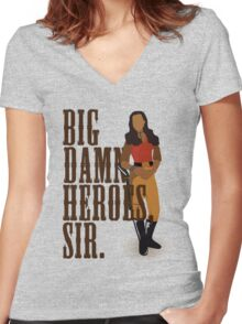 Big Damn Heroes, sir. Women's Fitted V-Neck T-Shirt