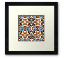 Kaleidoscope of succulents in boho style. Framed Print
