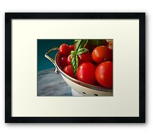 Cherry Tomatoes Framed Print